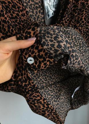 📎 блуза леопардовая bershka6 фото