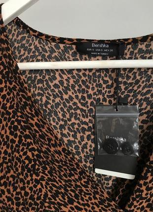 📎 блуза леопардовая bershka7 фото