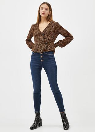 📎 блуза леопардовая bershka9 фото