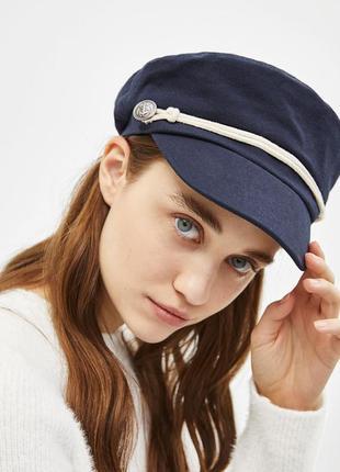 Обнова! кепи картуз кеппи кепка фуражка капитанка синий новый качество bershka