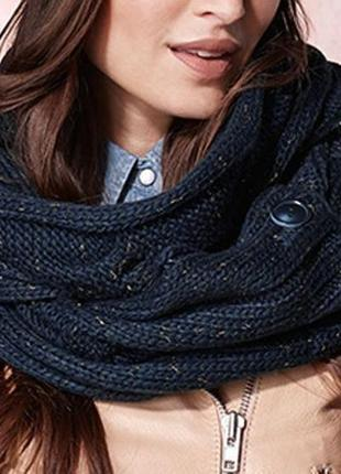 Качественный вязаный шарф-снуд 2 в 1 немецкого бренда     tcm tchibo
