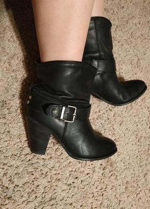 Сапоги сапожки полусапожки ботинки на каблуке кожаные весенние козаки демисезонные осенние