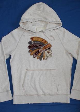 Винтажная худи толстовка пуловер с капюшоном abercrombie & fitch