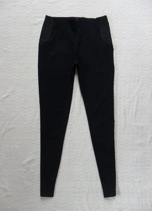 Утягивающие черные леггинсы штаны скинни calzedonia, l размер.
