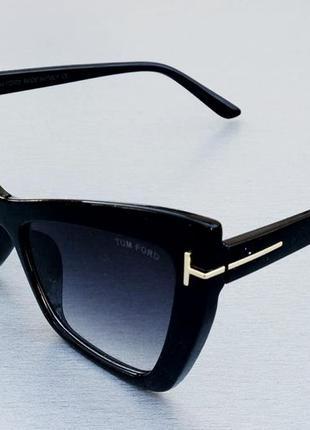 Очки tom ford кошечки женские солнцезащитные черные