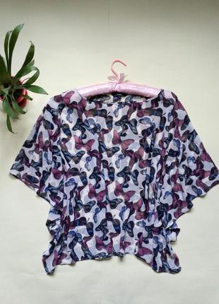 Шифоновая блуза в бабочки -летучья мышь 16 next