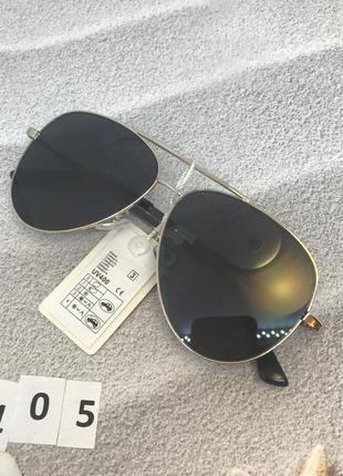 Солнцезащитные очки капли (авиатор), цвет черный, к.2105
