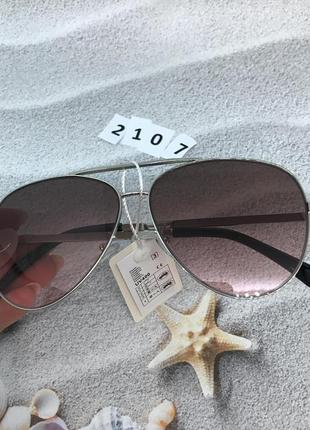 Солнцезащитные очки капли (авиатор), цвет розовый, к.2107