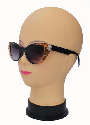 Модные женские солнцезащитные очки 249 сонцезахисні окуляри черный с леопардовым