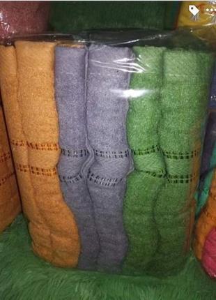 Полотенца новые, набор, 6 штук, разные цвета, хлопок