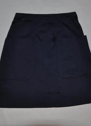 Синяя  мини-юбка
