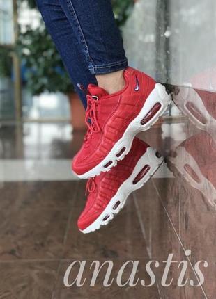 Шикарные женские кроссовки nike air max 95 red