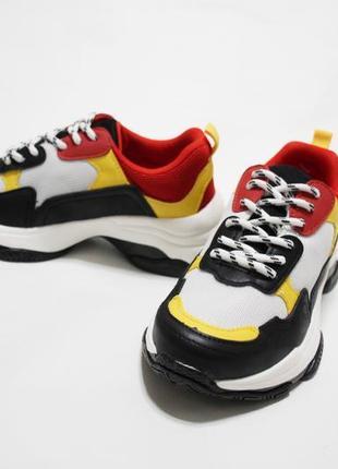 Женские разноцветные кроссовки (крипперы, кеды) на толстой подошве3