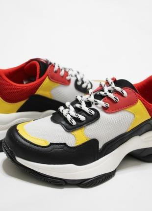 Женские разноцветные кроссовки (крипперы, кеды) на толстой подошве5