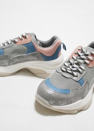 Женские разноцветные кроссовки (крипперы) на толстой подошве3