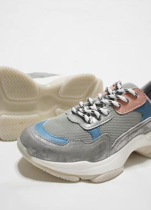 Женские разноцветные кроссовки (крипперы) на толстой подошве4