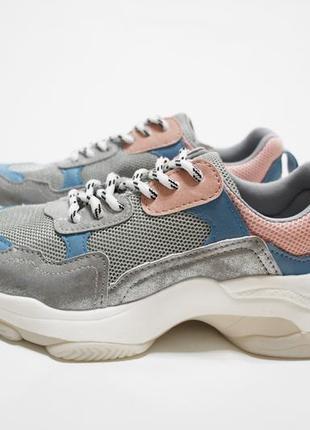 Женские разноцветные кроссовки (крипперы) на толстой подошве2