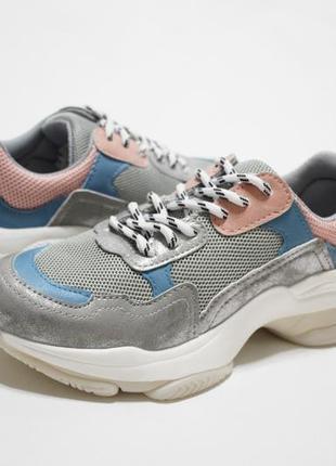 Женские разноцветные кроссовки (крипперы) на толстой подошве5