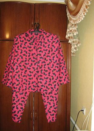 Пижама tendresse, 100% хлопок-байка, размер 16-18