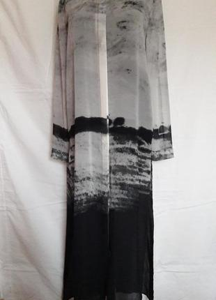 Оригинальная шифоновая удлиненная блуза divided by h&m