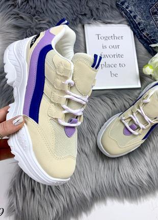 Стильные и мягкие кроссовки на фигурной подошве1 фото