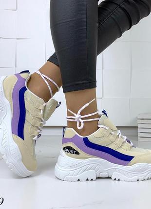Стильные и мягкие кроссовки на фигурной подошве3 фото