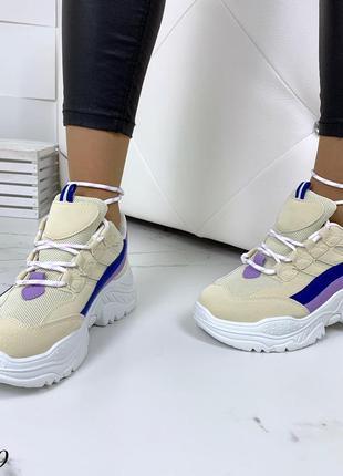 Стильные и мягкие кроссовки на фигурной подошве2 фото