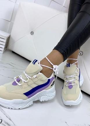 Стильные и мягкие кроссовки на фигурной подошве7 фото