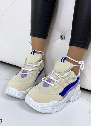 Стильные и мягкие кроссовки на фигурной подошве6 фото