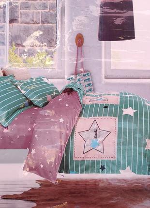 Комплект постельного белья евро 200х230  фланель