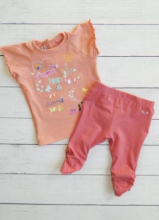 Комплект для девочки 3-6 месяцев. 68 рост.футболка и лосины.