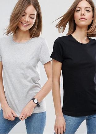 Комплект базовых однотонных футболок 100% коттон размеры испания