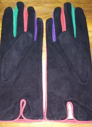 Стильные замшевые перчатки marks& spencer