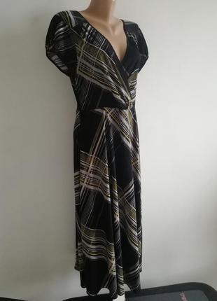 👑 расклешенное платье миди в полоску 👑 платье  с v-образным вырезом и рукавом фонариком