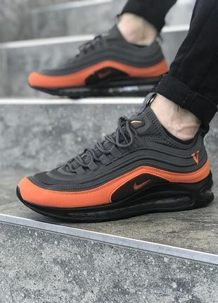 Шикарные мужские кроссовки nike air max 97 black orange