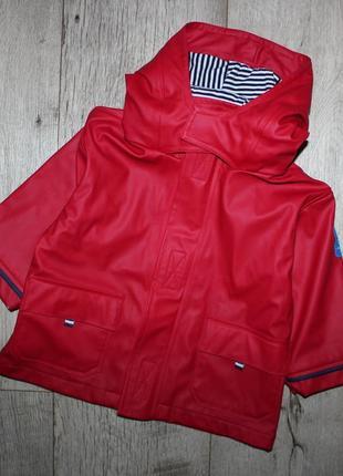 Куртка пальто дождевик плащ красное jojo maman bebe 1-1,5 года, рост 80-86 см.