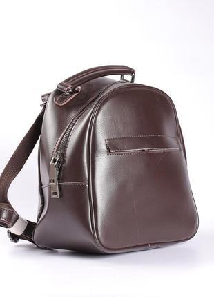 Маленький рюкзак из натуральной кожи, коричневый