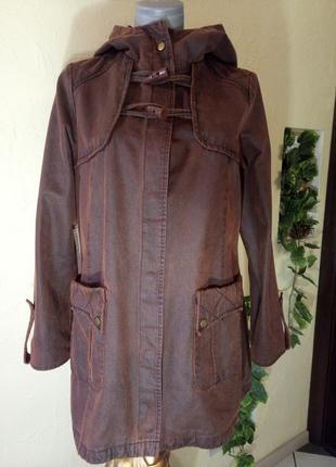 Переливающаяся терракотовая куртка с подстежкой,48-50 размер