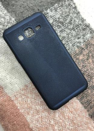 Новый синий чехол на телефон samsung j3