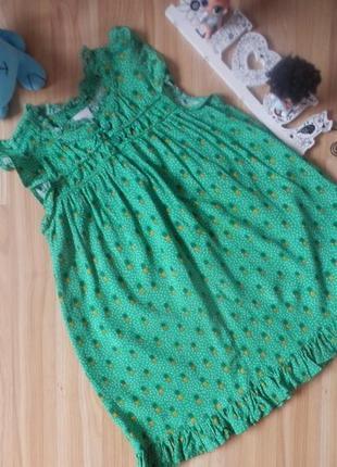 Фирменное платье next малышке 4-5 лет состояние отличное