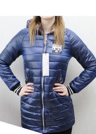 Лёгкое удобное пальто-плащ весна-осень длинный рукав капюшон
