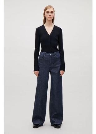 Джинсы cos relaxed wide-leg jeans 480219001