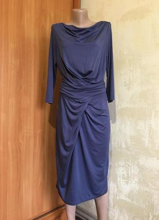 Трикотажное платье изумительного цвета,высокий рост!!