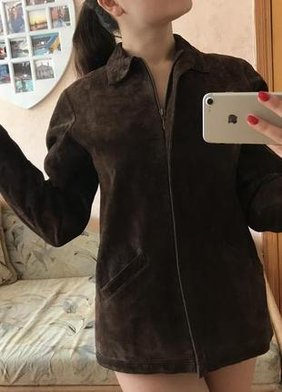 Куртка замшевая пиджак кожаная осенняя lakeland