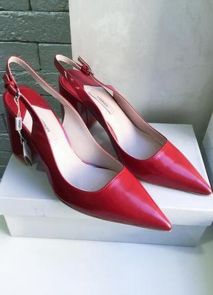 Кожаные туфли uterque,p.40-40,5