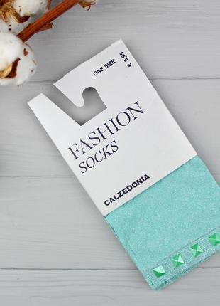 Бирюзовые фешн-носочки с глиттером calzedonia