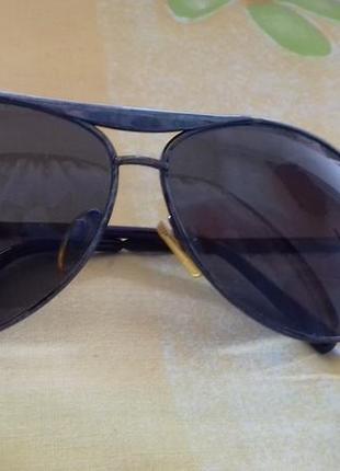 Мужские затемненные солнцезащитные каплевидные очки форма капля1