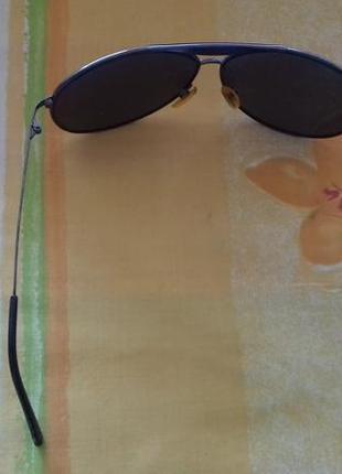 Мужские затемненные солнцезащитные каплевидные очки форма капля2