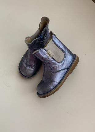 Кожаные ботинки 24р { next zara}