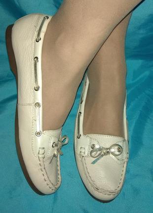 Кожаные туфли мокасины footglove р 39 отлич сост